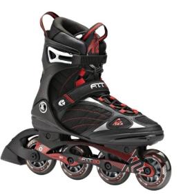 K2 Herren Inline Skate FIT 80, Schwarz/Rot, 10.5, 3040001.1.1.105 - 1
