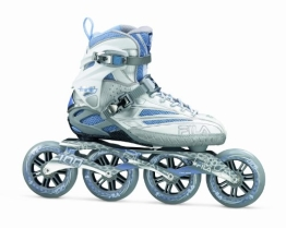 FILA Inline Skate FM 100 Lady, Silver-Light Blue, 42 - 1