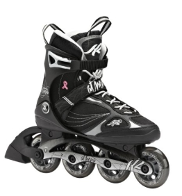 K2 Damen Inline Skate Athena, Schwarz/Silber/Weiß, 6.5, 3040102.1.1.065 - 1
