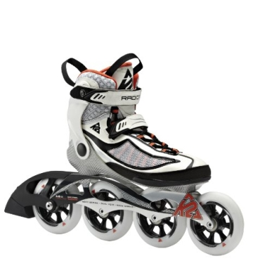 K2 Damen Inline Skate RADICAL 100 W, Weiß/Schwarz/Orange, 8, 3040103.1.1.080 - 1
