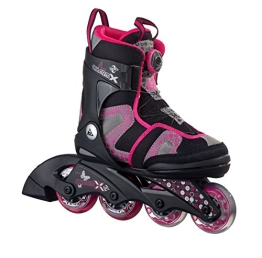 K2 Kinder Inline Skate Charm X Boa, Pink/Grau/Schwarz, L, 30A0201.1.1.L - 1