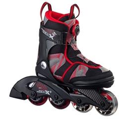 K2 Kinder Inline Skate SK8 Hero X Boa, Rot/Grau/Schwarz, M, 30A0202.1.1.M - 1