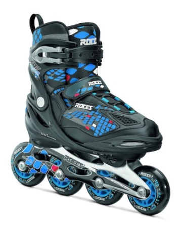 Roces Jungen Inlineskates Moody 4.0, Black-Astro Blue,Red, 30-35, 400777-002 - 1