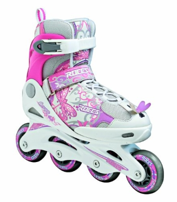 Roces Kinder Inlineskates Compy 6.0 Girl, weiss-rosa, 38/41, 400735-001 white-deep pink - 1