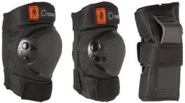 Kinder Inliner Inlineskates Schützer Protektoren SET SCHWARZ 6 tlg. Arm,-Bein- und Ellenbogenschützer Gr. XS von 25KG bis 50KG - 1