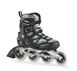 Rollerblade Damen Inlineskate Macroblade 90 W, Black/Light Green, 26.5, 07355500 824 - 1