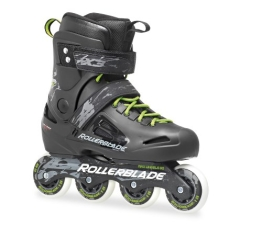 Rollerblade Inlineskate Fusion X3, Black/Green, 44, 07023000 T83 - 1