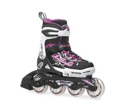 Rollerblade Kinder Inlineskate Spitfire G, Black/Purple, 36.5, 07333900 N41 - 1