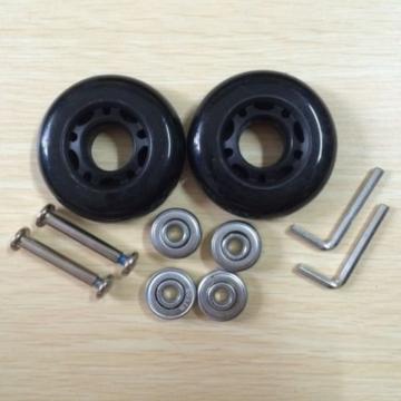 64x 18mm 2schwarz Ersatz Gepäck Koffer/Roller Inline Skate Rollen Achsen Deluxe Reparatur mit ABEC 608ZZ Kugellager - 2
