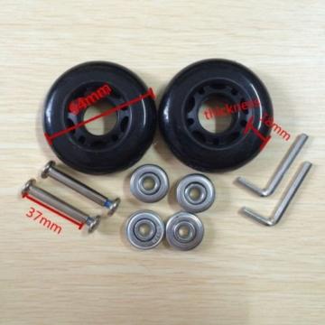 64x 18mm 2schwarz Ersatz Gepäck Koffer/Roller Inline Skate Rollen Achsen Deluxe Reparatur mit ABEC 608ZZ Kugellager - 1