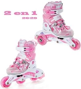 2in1 Kinder Inline Skates Triskates Raven Princess Größe: 26-29 (16cm-18cm) - 1
