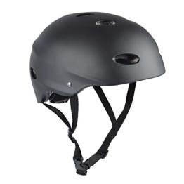 Apollo Skate-Helm / Fahrradhelm - My Hood - verstellbarer Skateboard, Scooter, BMX-Helm, mit Drehrad-Anpassung geeignet für Kinder, Erwachsene - Größe: L für Kopfumfang 58-62 cm, Farbe: schwarz - 1