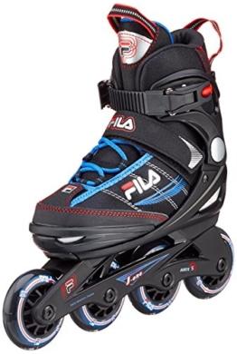 Fila Jungen Inline Skate J-One, schwarz/blau/rot, 32-36, 010616147 - 1