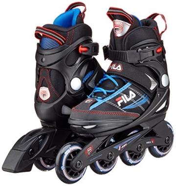 Fila Jungen Inline Skate J-One, schwarz/blau/rot, 32-36, 010616147 - 2