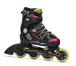 Fila Jungen Inline Skate X-One, schwarz/rot/lime, 38-41, 010616140 - 1