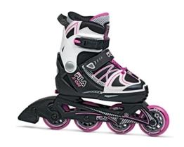 Fila Mädchen Inline Skate X-One, schwarz/weiß/pink, 35-38, 010616145, L - 1