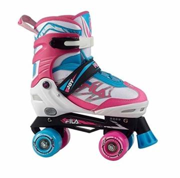 Fila Mädchen Joy Girl Roller Skate, Weiß/Pink/Hellblau, S/34 - 1