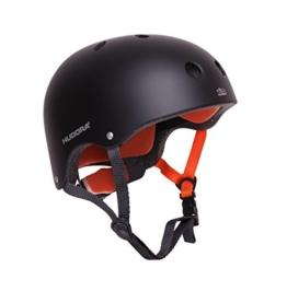 HUDORA 84103 - Skateboard-Helm, Scooter-Helm anthrazit, Gr. 51-55, Skate Helm, Fahrrad-Helm - 1