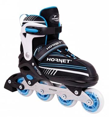 Hudora Hornet Inline Skates größenverstellbar Kinder schwarz-blau, 34-37 - 1