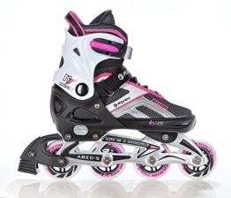 Inline Skates Inliner Raven Pulse Black/Pink Größe: 37-40 (23,5cm-25,5cm) - 1