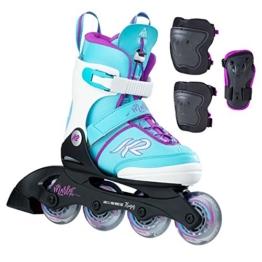 K2 Kinder Inline Skate Marlee Pro Pack Inlineskate, Hellblau, 29 - 1