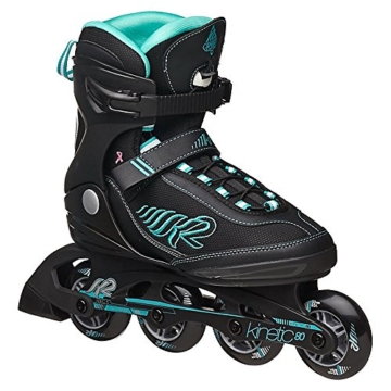 k2 skate damen kinetic 80 inline skates schwarz 36 eu. Black Bedroom Furniture Sets. Home Design Ideas