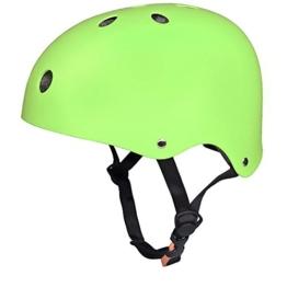 Skaterhelm Kinder, Micro Helm Bike Skateboarder Sicherheit Roller - Grün - 1
