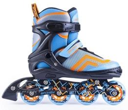 SPOKEY AVATE Kinderinliner verstellbar Inliner Inlineskates für Kinder Jugendliche größenverstellbar Skating Inlineskate Funsport (Blau, 39-42) - 1