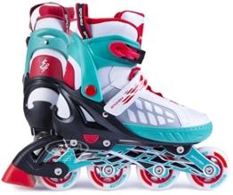 Spokey Freestyle verstellbare Inlineskates Skate Inlineskate Inliner Skates für Kinder Kinderinliner ROADI (Weiß, 37-40) - 1