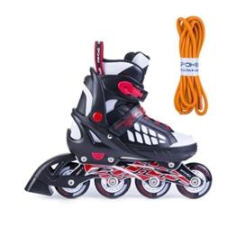 Spokey Freestyle verstellbare Inlineskates Skate Inlineskate Inliner Skates für Kinder Kinderinliner ROADI (Schwarz, 40-43) - 1