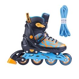 SPOKEY verstellbare INLINESKATES Skates Inlineskate Inliner Skates für Kinder Erwachsenen Kinderinliner TURIS (blau, 40-43) - 1