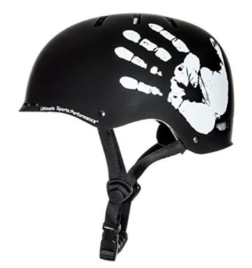"""Sport DirectTM BMX-Skate Erwachsene: """"Die Hand"""" Erwachsene: NB: 55-59 cm Cycle schwarz Fahrrad Helm CE EN1078 TÜV Zulassungen - 1"""