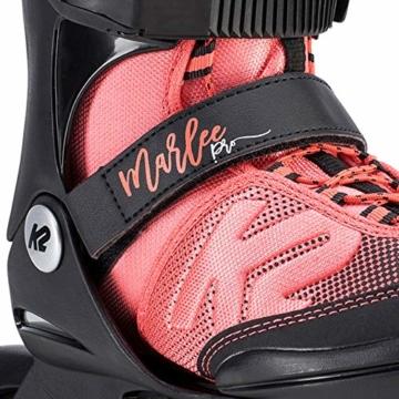 K2 Mädchen Inline Skates MARLEE PRO - Schwarz-Rosa - S (29-34 EU; 10-1 UK; 11-2 US) - 30D0222.1.1.S - 4