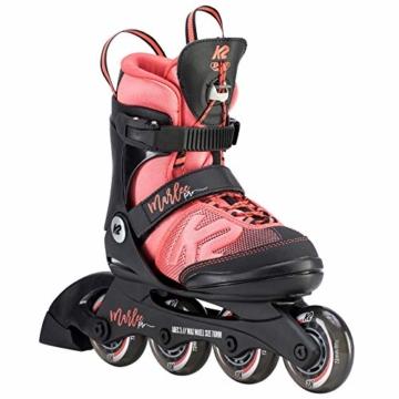 K2 Mädchen Inline Skates MARLEE PRO - Schwarz-Rosa - S (29-34 EU; 10-1 UK; 11-2 US) - 30D0222.1.1.S - 1